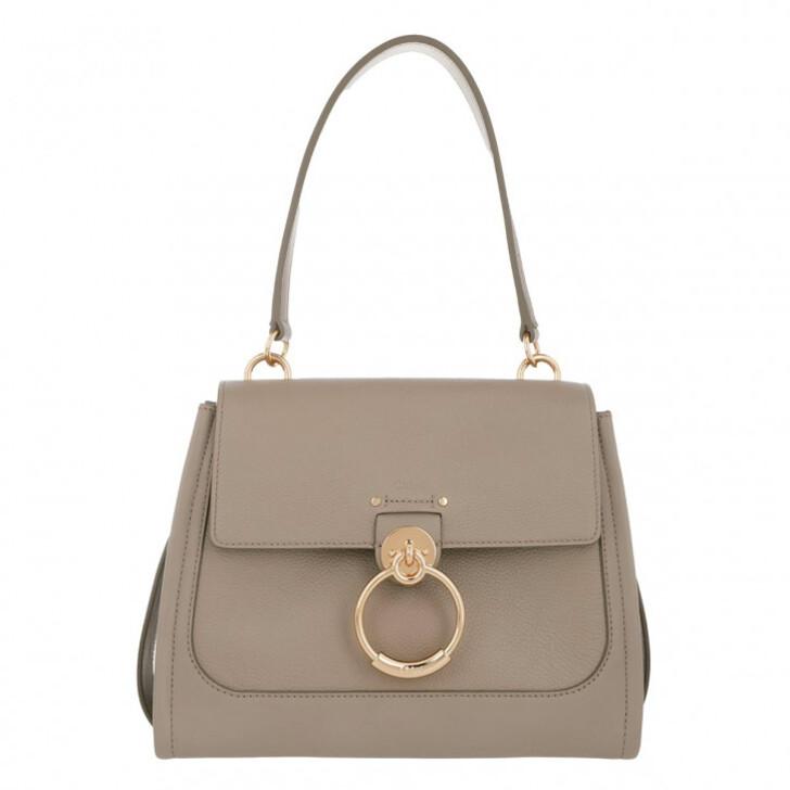 Handtasche, Chloé, Tess Day Small Crossbody Bag Leather Motty Grey
