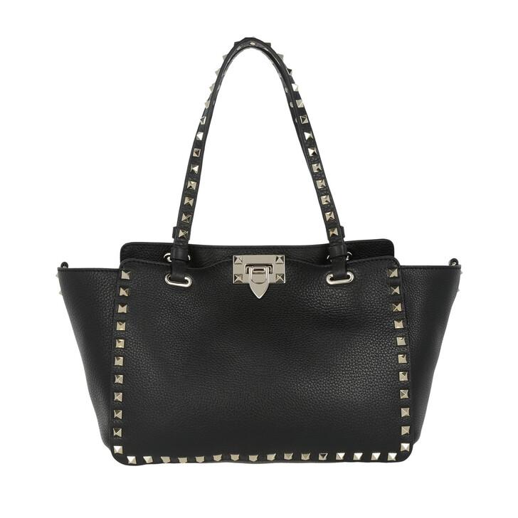 Handtasche, Valentino Garavani, Rockstud Small Tote Calf Black