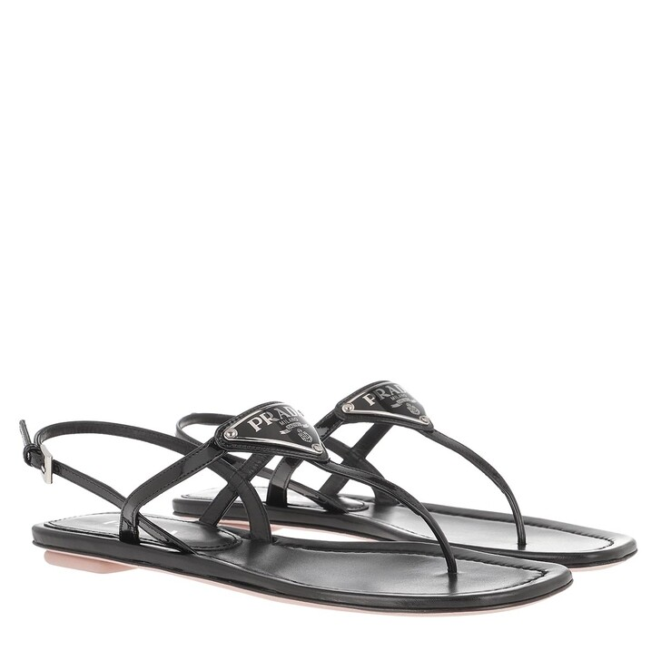 Schuh, Prada, Thong Sandal Patent Leather Black