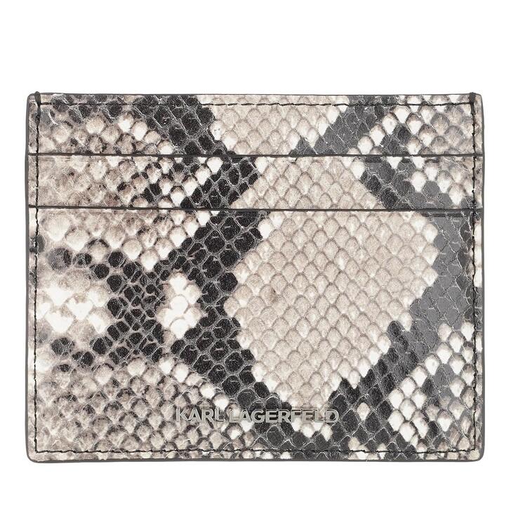 Geldbörse, Karl Lagerfeld, Seven Card Holder Snake Classic Natural