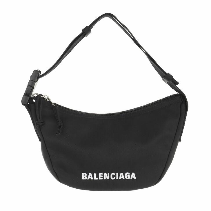bags, Balenciaga, Wheel Small Sling Bag  Black White