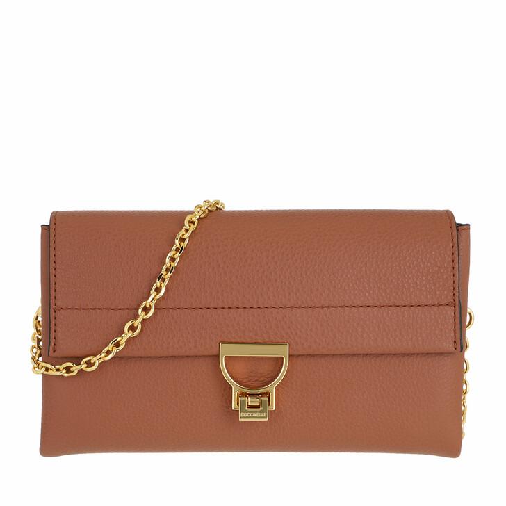 bags, Coccinelle, Arlettis Handbag Grainy Leather  Cinnamon