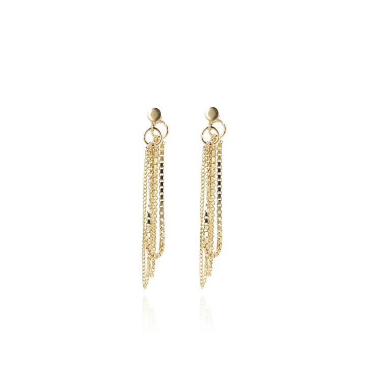 Ohrring, LOTT.gioielli, Earrings Venetian Triple Chain Gold