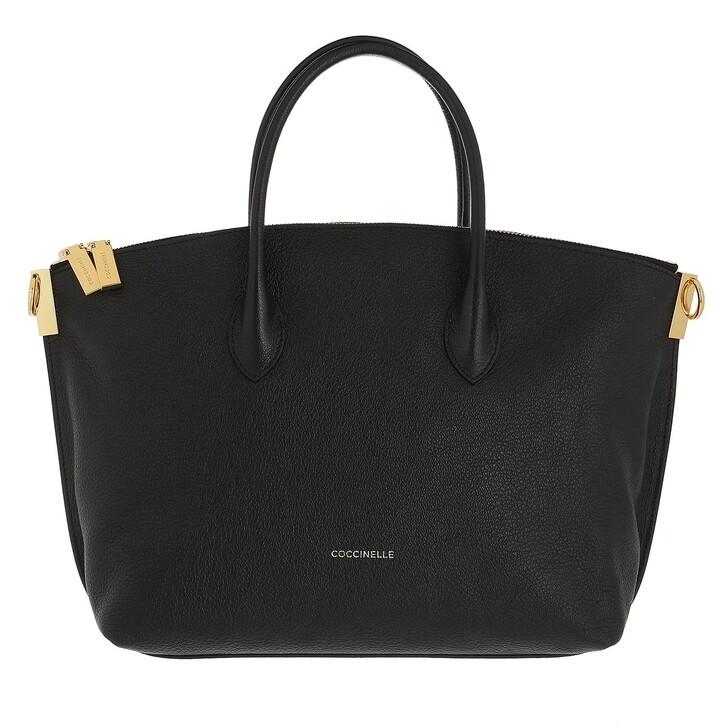bags, Coccinelle, Estelle Handbag Grained Leather  Noir