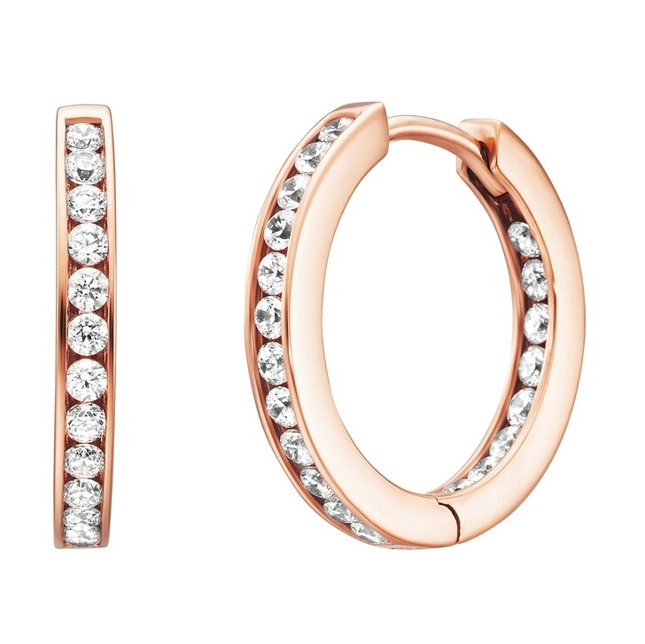 Ohrring, BELORO, Creole Earring Zirconia Rosé-Plated