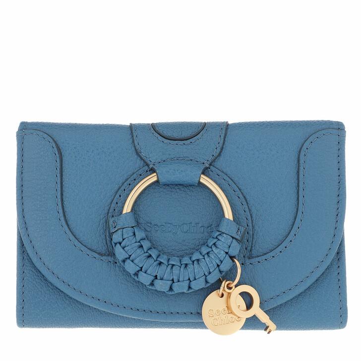 Geldbörse, See By Chloé, Hana Wallet Leather Moonlight Blue