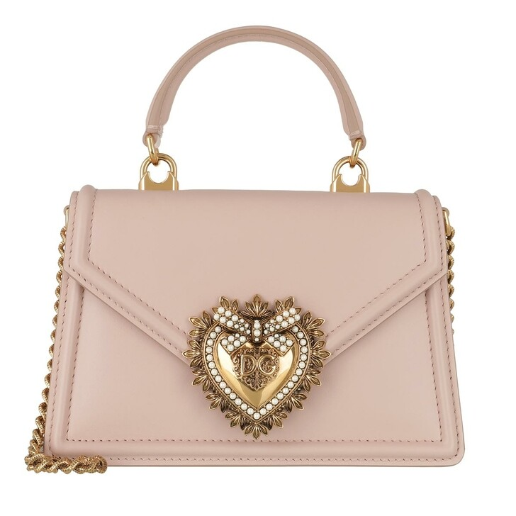 Handtasche, Dolce&Gabbana, DG Amore Saddle Bag Cipria
