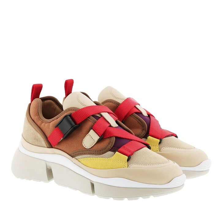 Schuh, Chloé, Sonnie Low Top Sneaker Earthy Red