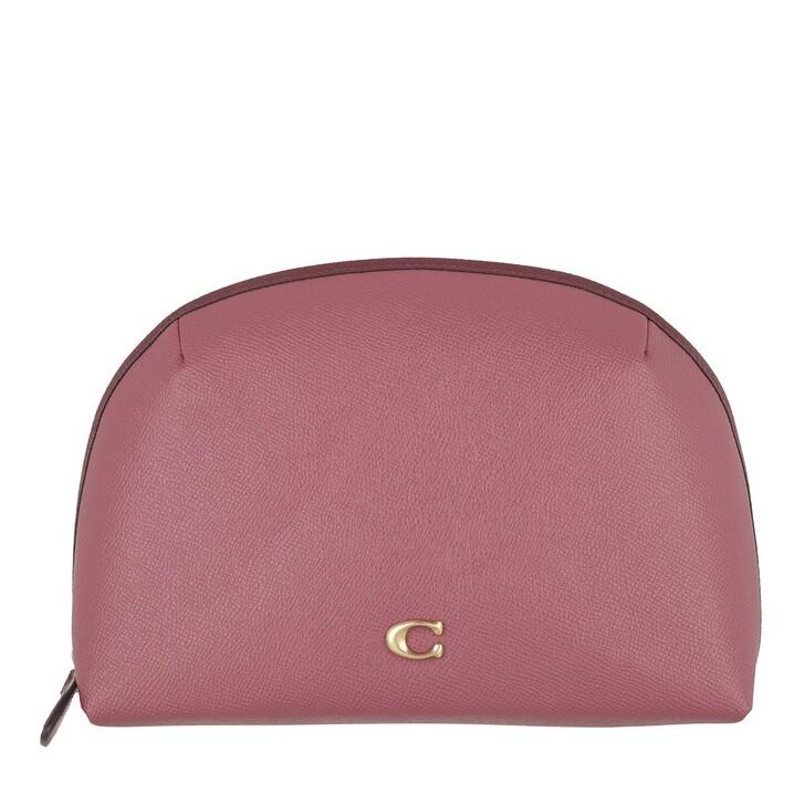 Necessaire, Coach, Colorblock Leather Julienne Cosmetic Case 22 B4/Rouge Multi
