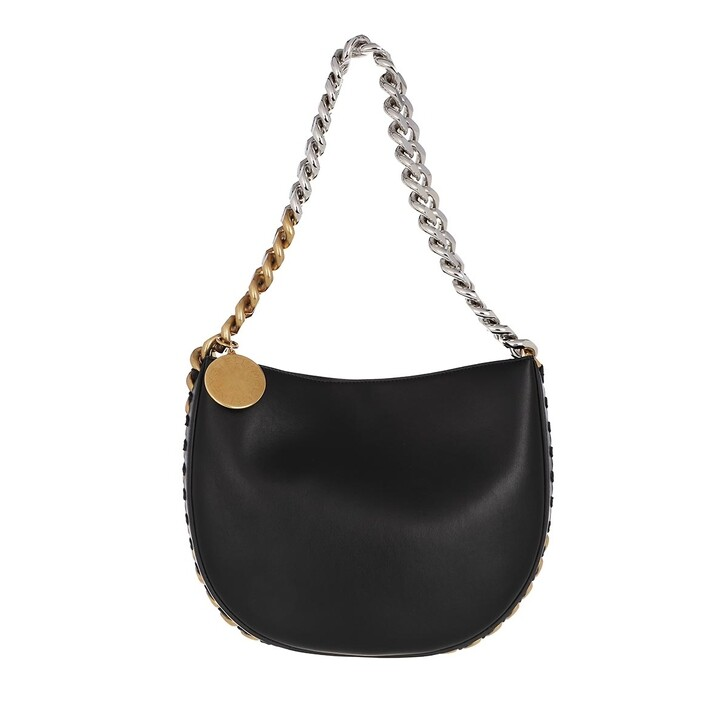 bags, Stella McCartney, Medium Frayme Shoulder Bag Black