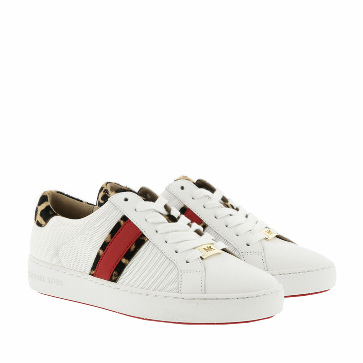 Schuh, MICHAEL Michael Kors, Irving Stripe Lace Up Sneakers Optic White/Natural