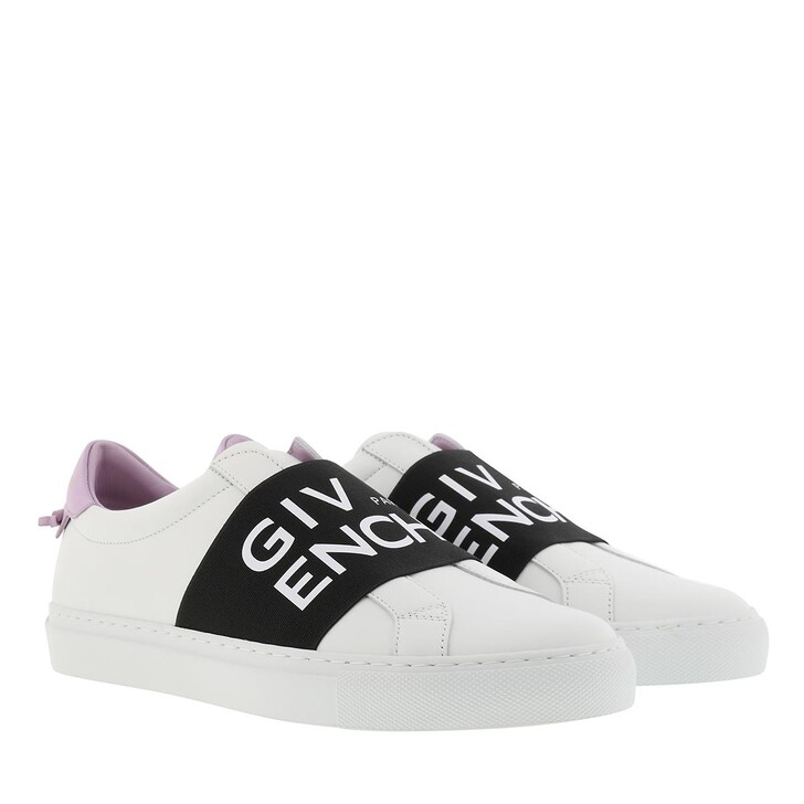 Schuh, Givenchy, Urban Street Sneakers With Webbing Leather White