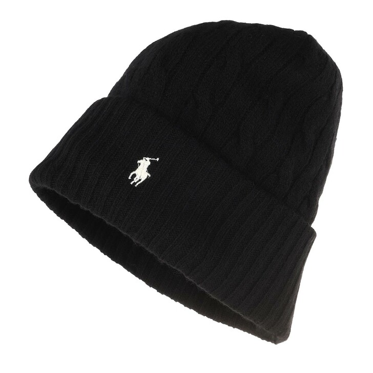 Schal, Polo Ralph Lauren, Wool Cashmere Hat Polo Black