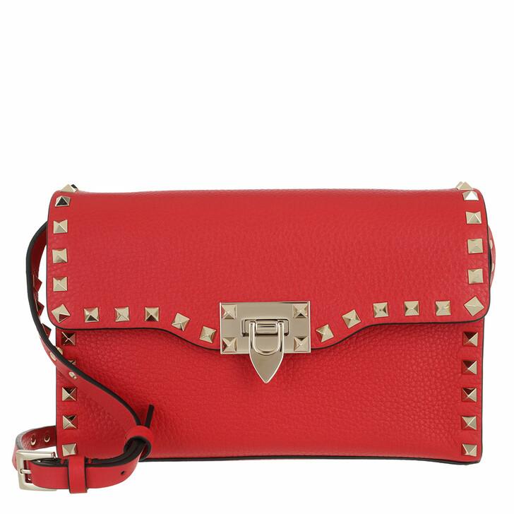 bags, Valentino Garavani, Rockstud Small Crossbody Bag Rouge Pur