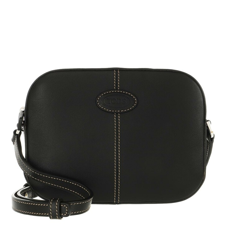 Handtasche, Tod's, Camera Crossbody Bag Leather Black