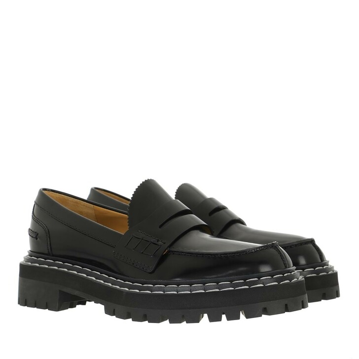 shoes, Proenza Schouler, Brush Paradise Loafers  Black