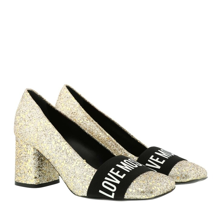 Schuh, Love Moschino, Scarpad T G75 Glitter  Platino