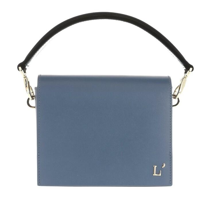 Handtasche, L´Autre Chose, Mini Bag Tresor Velvet Dusty Blue/Black