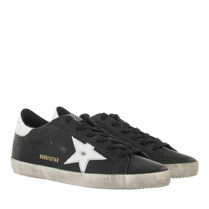 shoes, Golden Goose, Superstar Sneakers Leather Black/White