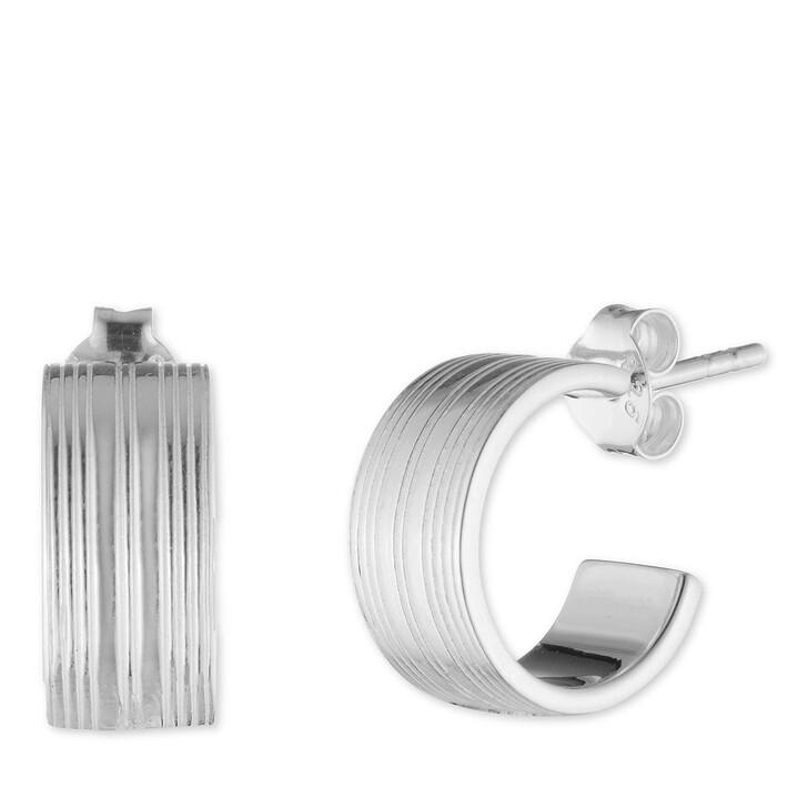 Ohrring, Lauren Ralph Lauren, Sterling Silver Mini Textured Hoop Earrings Silver