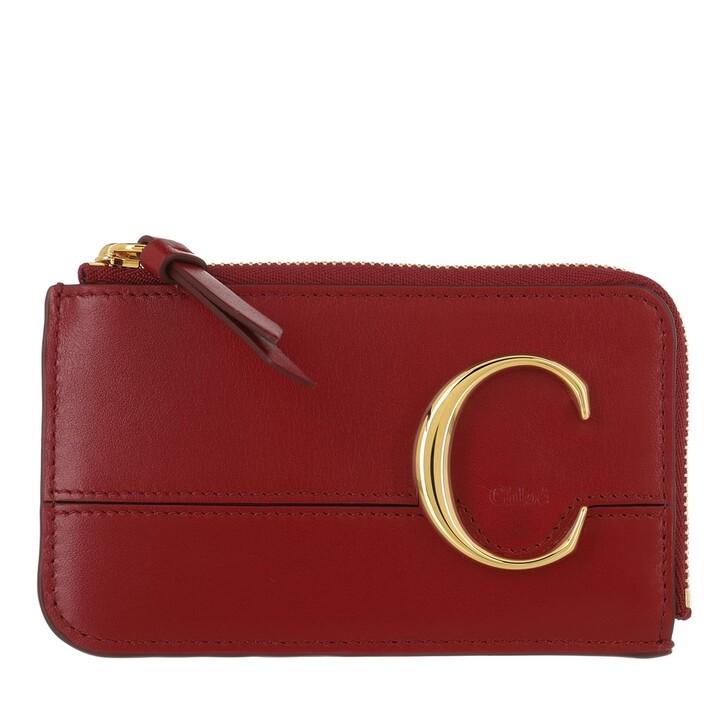 Geldbörse, Chloé, C Small Purse Smoked Red