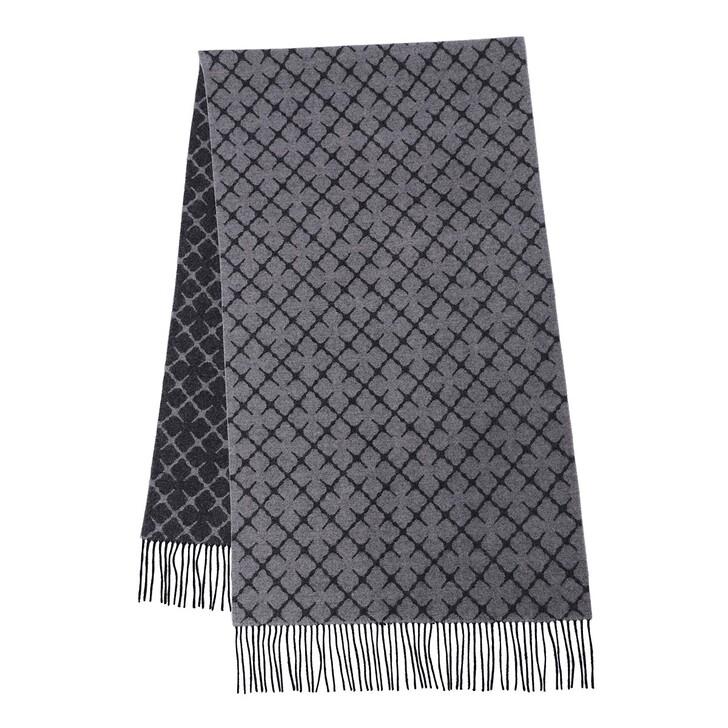 scarves, By Malene Birger, Ortega Wool Scarf  Light Grey Melange