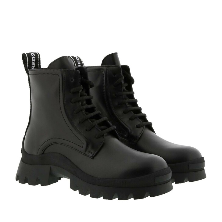 shoes, Dsquared2, Bootie Leather Nero/Nero