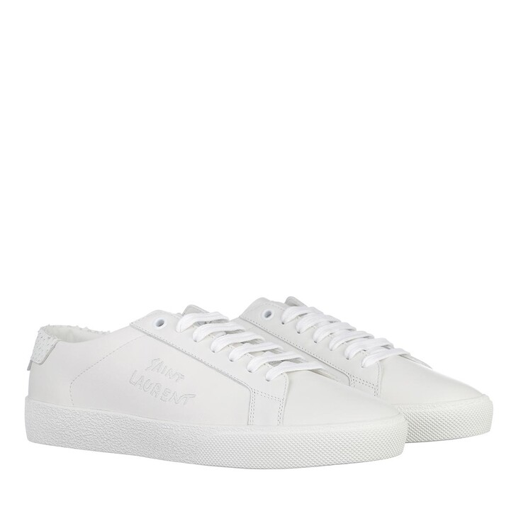 Schuh, Saint Laurent, Court Classic Sneakers Leather White