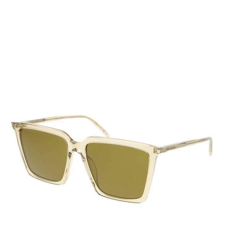 sunglasses, Saint Laurent, SL 474-005 56 Sunglass Woman Acetate Yellow-Yellow-Brown