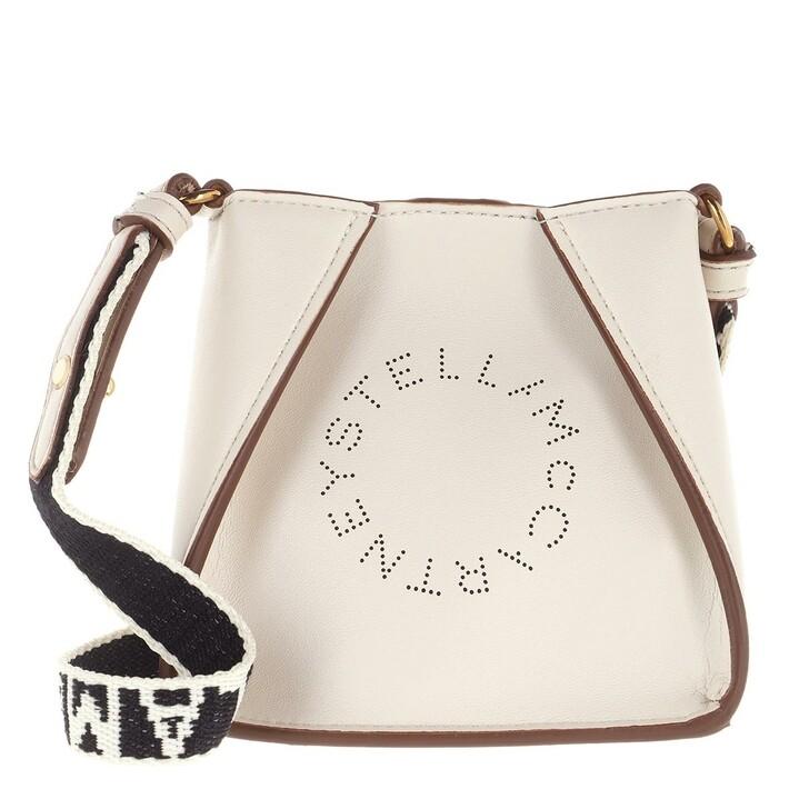 bags, Stella McCartney, Micro Tote Bag Eco Soft Alt Nappa Logo Pure White