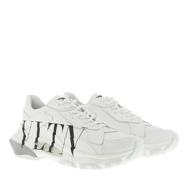 Schuh, Valentino Garavani, VLTN Logo Sneakers Leather White Black