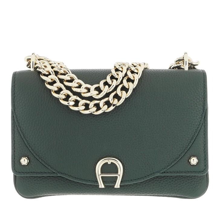 bags, AIGNER, Diadora Mini Bag Deep Green