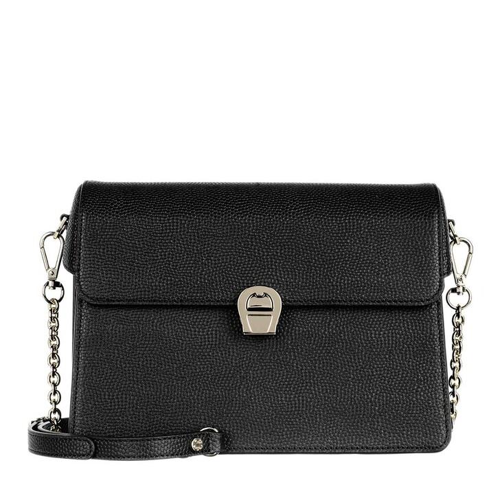 Handtasche, AIGNER, Genoveva Crossbody Bag Leather Black