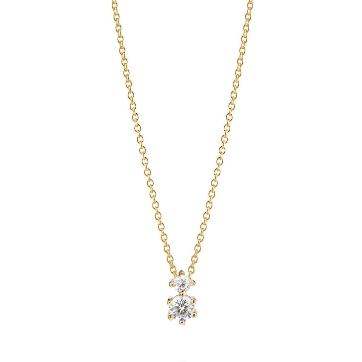 necklaces, Sif Jakobs Jewellery, Rimini Due Necklace 18 Carat Yellow Gold