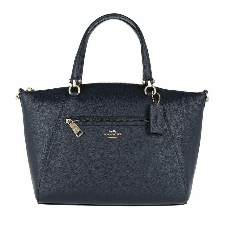 Handtasche, Coach, Polished Leather Prairie Satchel Bag Navy