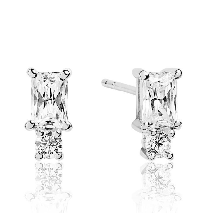 earrings, Sif Jakobs Jewellery, Antella Piccolo Earrings White Zirconia 925 Sterling Silver