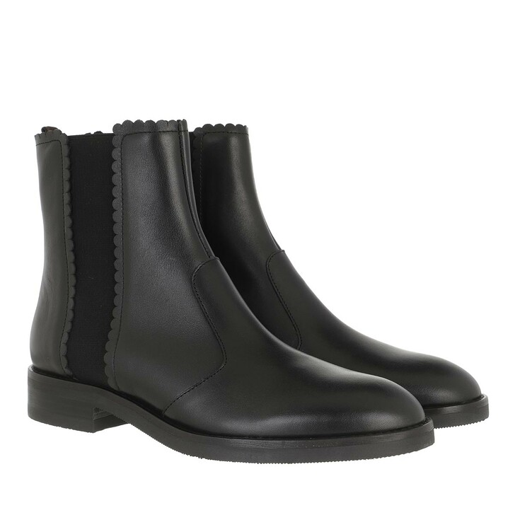 shoes, See By Chloé, Boots Leather Black