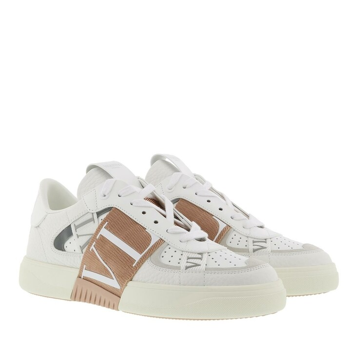 Schuh, Valentino Garavani, VLTN Low Top Sneakers Calf Leather White