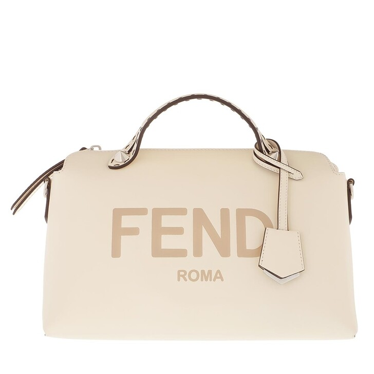 Handtasche, Fendi, By The Way Bowling Bag Leather Beige