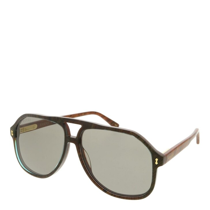 sunglasses, Gucci, GG1042S-003 60 Sunglass Man Acetate Blue-Brown-Grey