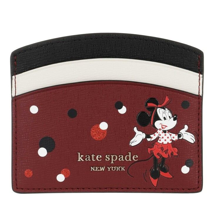 wallets, Kate Spade New York, Small Minnie Mouse Card Holder Red Multicolor