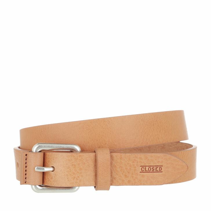Gürtel, Closed, Slim Belt Leather Pale Walnut
