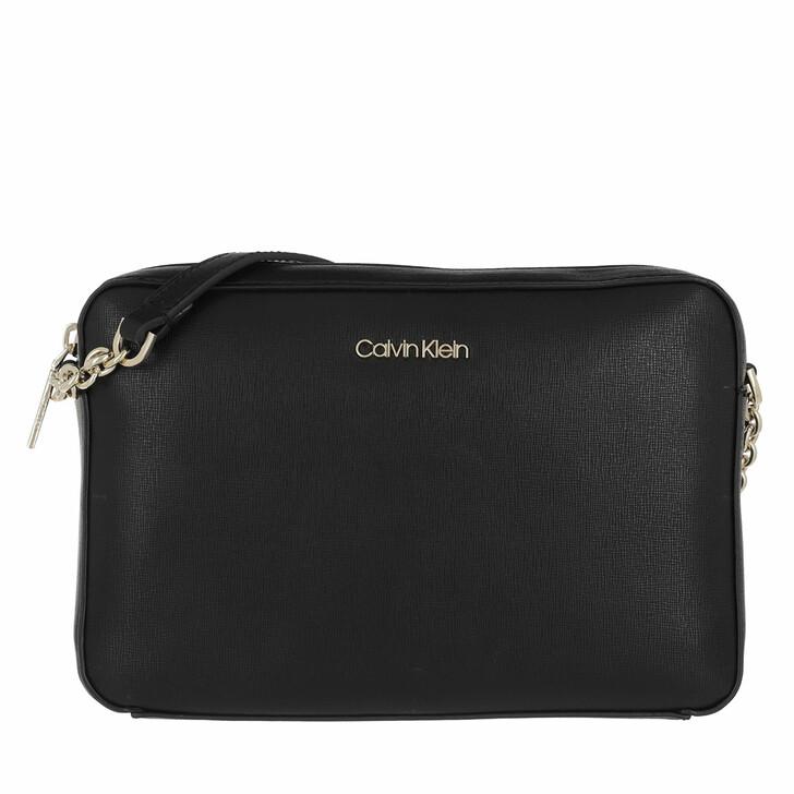 Handtasche, Calvin Klein, Camera Bag Medium Saffiano Black