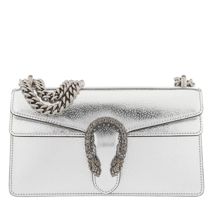 Handtasche, Gucci, Dionysus Small Shoulder Bag Leather Silver