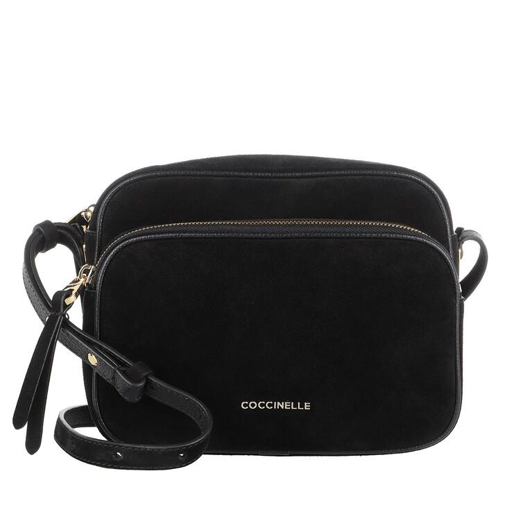 Handtasche, Coccinelle, Handbag Suede Leather Noir