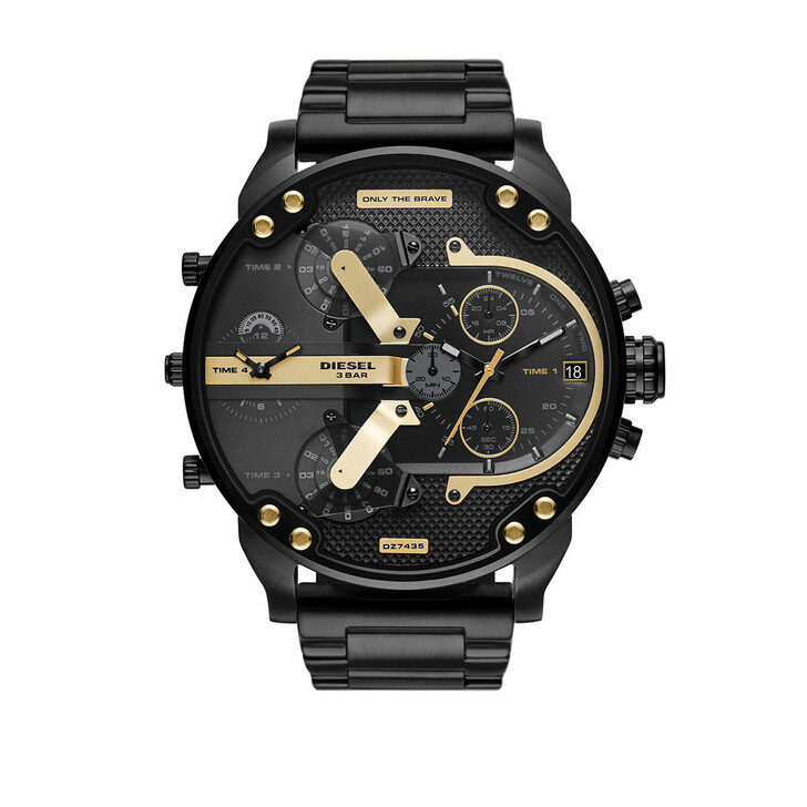 Uhr, Diesel, Mr. Daddy 2.0 Chronograph Stainless Steel Watch Black