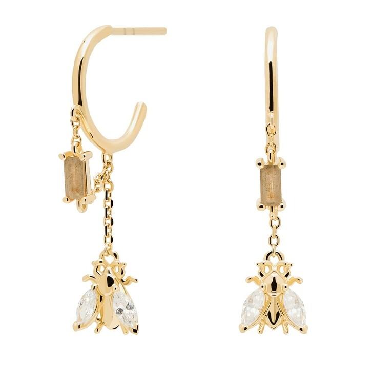 Ohrring, PDPAOLA, Earrings BREEZE Yellow Gold