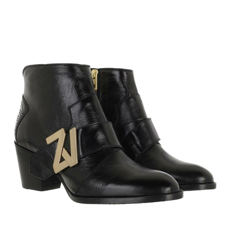 Schuh, Zadig & Voltaire, MOLLY ZV INITIALE VINTAGE PATENT BLACK