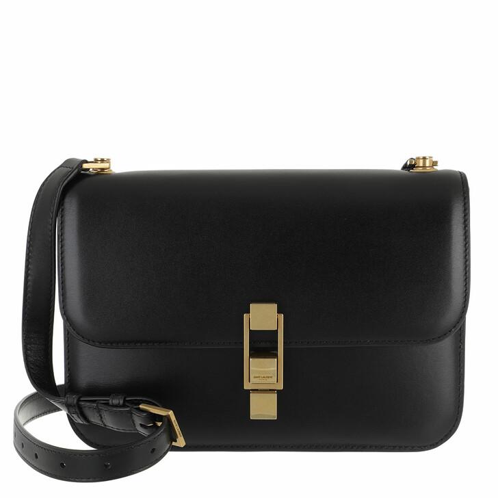 Handtasche, Saint Laurent, Carree Crossbody Bag Leather Black
