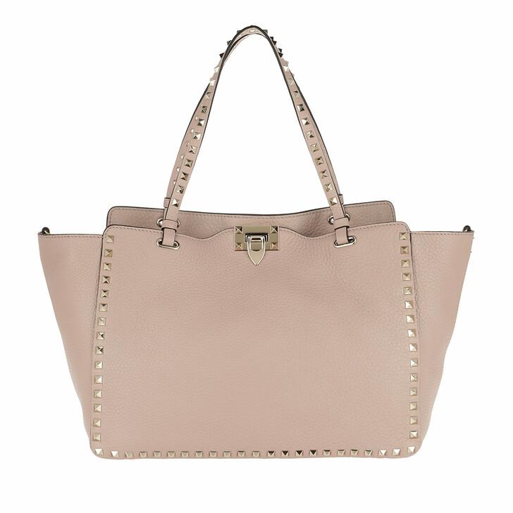 Handtasche, Valentino Garavani, Rockstud Medium Tote Bag Poudre Poudre